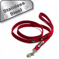 Black Dog Training Lead 1.2m Mini Stainless Steel
